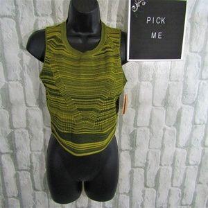 Rachel Roy NWT Mock Yellow Crop Top Size S
